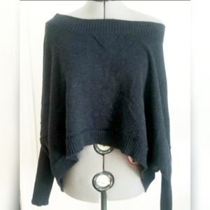 Joie Anais Batwing Cocoon Cropped Cashmere Sweater